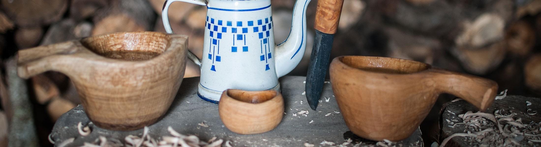 Tête de Bois | Kuskas tasse en bois artisanal Inspiration Finlandaise