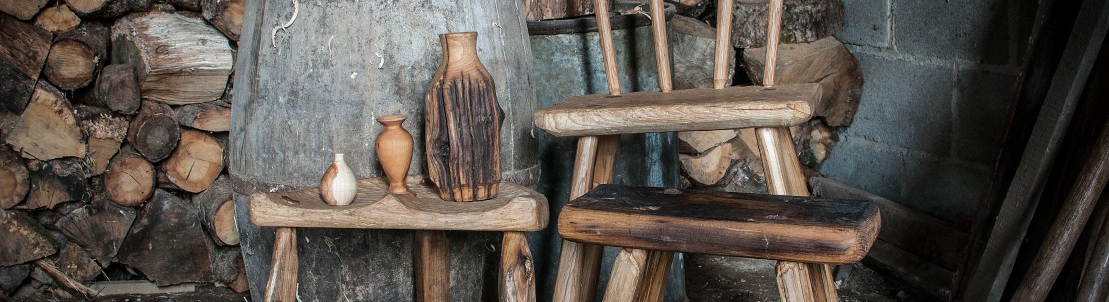 Tête de Bois   Divers objets bois artisanaux